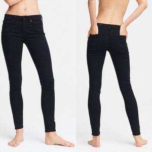 Rag & Bone Cate Mid-Rise Skinny Jeans Black 28